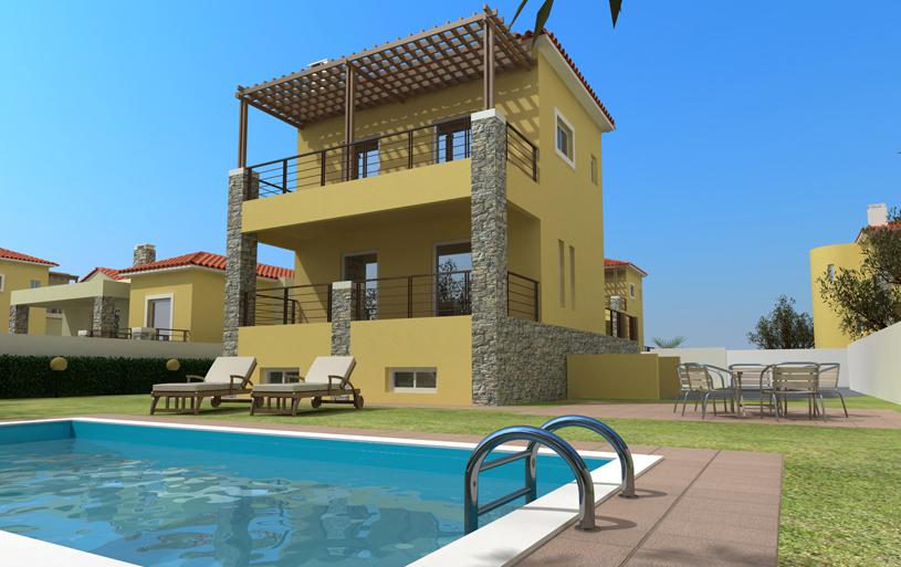 Виллу в Лемнос с бассейном